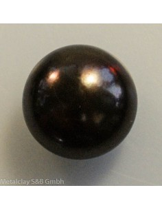 Süsswasserperle bronze14mm button