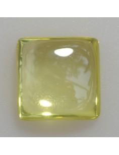 Zirkonia peridot 10x10 quadrat cabochon