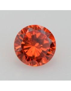 Zirkonia orange rund