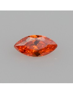 Zirkonia orange navette 5x2.5