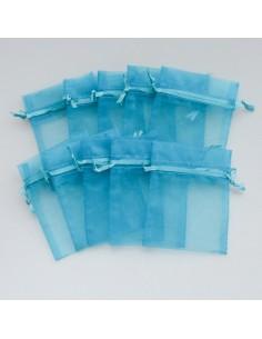 Schmucksäckli türkisblau 12 Stück