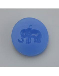 Silikonform blau Elefant