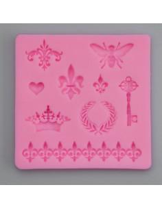 Silikonform Biene, Ornamente, Schlüssel
