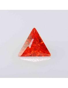 Zirkonia orange dreieck 4x4mm