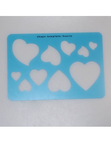 Schablone Hearts