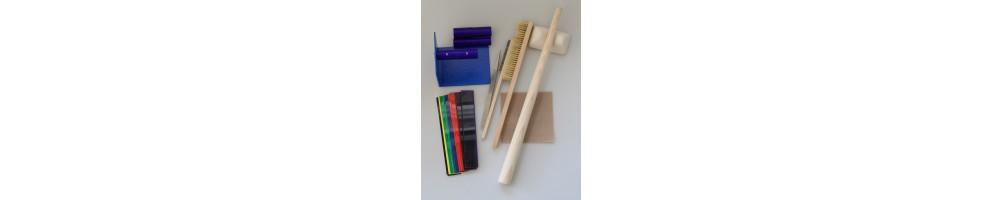 Haupt-Werkzeuge die für Bearbeitung von Metalclay, Silverclay, PMC, Art Clay Silver